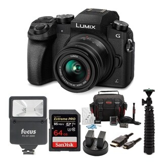 Panasonic LUMIX G7 Camera with Sony 64GB SDXC Card and Deluxe Accessory Bundle