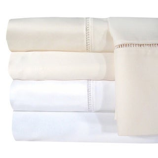 Veratex Egyptian Cotton Linford Hemstitch 1200 Thread Count Sheet Separates Cal-King in Ivory(As Is Item)