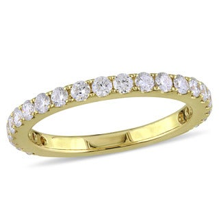 Miadora Signature Collection 14k Yellow Gold 3/4ct TDW Diamond Eternity Band