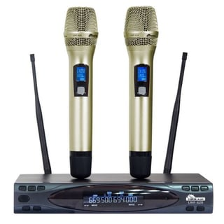 IDOLmain UHF-628 Wireless Microphone System with Dual Drop Auto Sound Cut Off - PREMIUM QUALITY SERIES