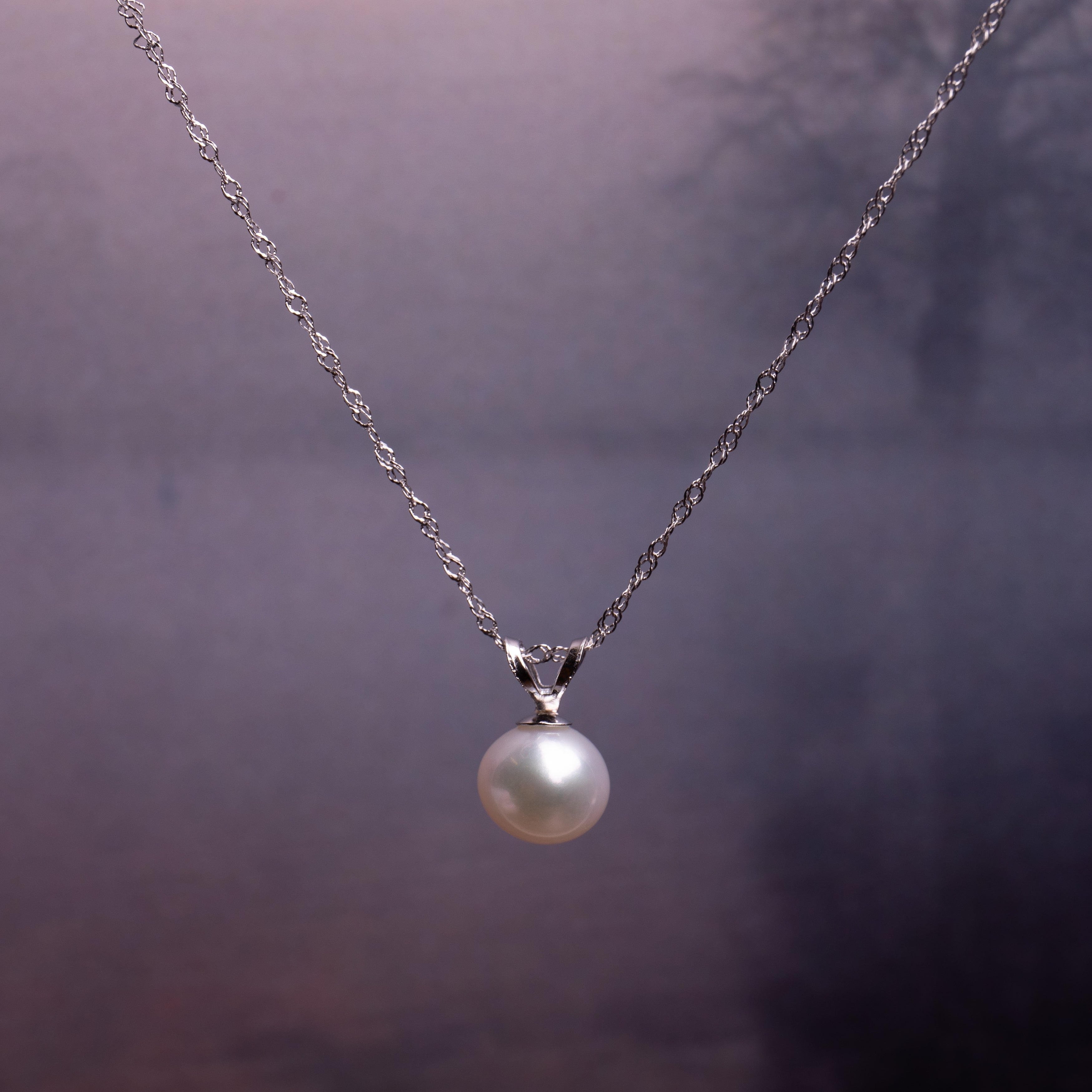 Miadora 18k White Gold Cultured Freshwater Pearl Drop Necklace 18.18 18mm