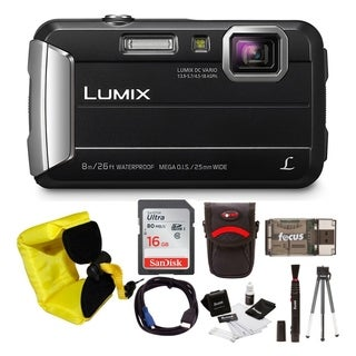 Panasonic DMC-TS30K LUMIX Active Lifestyle Tough Camera (Black) with 16GB Accessory Bundle