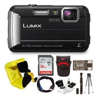 Panasonic DMC-TS30K LUMIX Active Lifestyle Tough Camera (Black) with 16GB Accessory Bundle