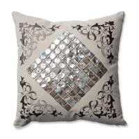 Pillow Perfect Mother of Pearl Sand Throw Pillow