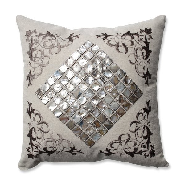 Pillow Perfect Mother Of Pearl Sand Throw