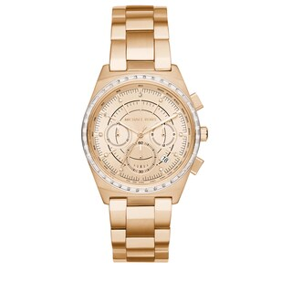 Michael Kors Women's MK6421 Vail Chronograph Gold Dial Gold-Tone Stainless Steel Bracelet Watch