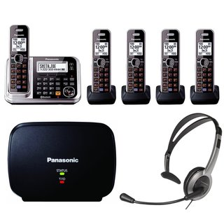 Panasonic KX-TG7875S Link2Cell Bluetooth Enabled Phone, KX-TG680S Cordless Telephone, Headset & Range Extender