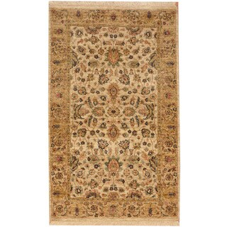 Herat Oriental Indo Hand-knotted Mahal Wool Rug (3'1 x 5'1)