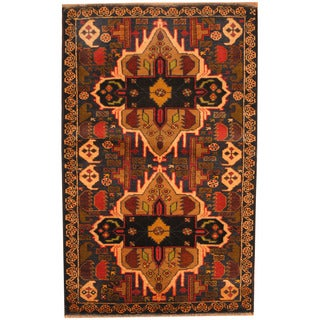 Herat Oriental Afghan Hand-knotted Balouchi Wool Rug (3' x 4'9)