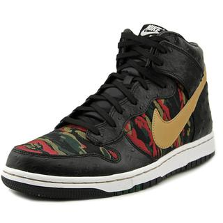 Nike Men's Dunk Comfort Premium Qs Black and Camouflage Leather Athletic Shoes