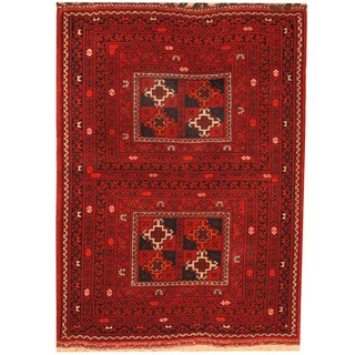 Herat Oriental Afghan Hand-knotted Turkoman Wool Rug (3' x 4')