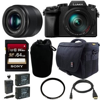 Panasonic Lumix DMC-G7 Mirrorless Digital Camera w/ 14-140mm & 25mm Lens Bundle