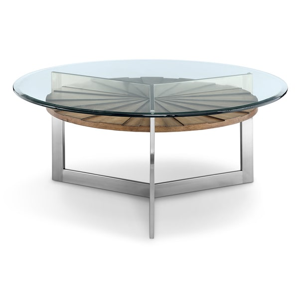 Brushed Aluminum Coffee Table: Shop Rialto Contemporary Brushed Nickel Metal Coffee Table