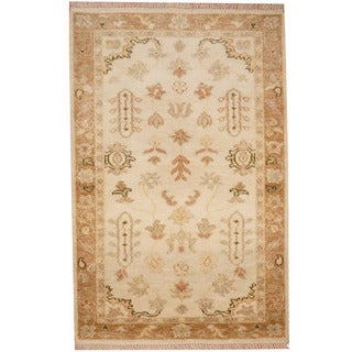 Herat Oriental Indo Hand-knotted Oushak Wool Rug (3'3 x 5')
