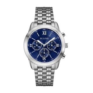 Bulova Men's 96A174 Blue Bracelet Stainless Steel Watch