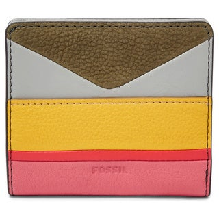 Fossil Emma RFID Multicolored Leather Mini-striped Wallet