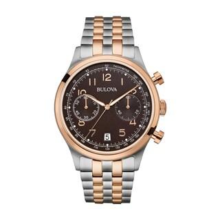 Bulova Men's Chronograph Watch, Two-Tone Bracelet 98B248|https://ak1.ostkcdn.com/images/products/13434246/P20126122.jpg?_ostk_perf_=percv&impolicy=medium
