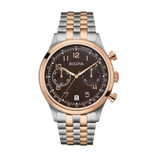 Bulova Men's Chronograph Watch, Two-Tone Bracelet 98B248