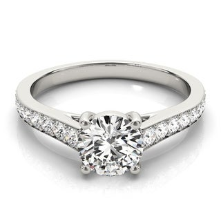 Transcendent Brilliance 14k White Gold Graduate 1 1/4 TDW Diamond Engagement Ring