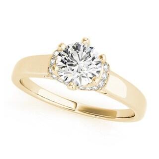 Transcendent Brilliance 14k White Gold 3/4 TDW Diamond Wrap Plain Shank Engagement Ring (G, VS2)
