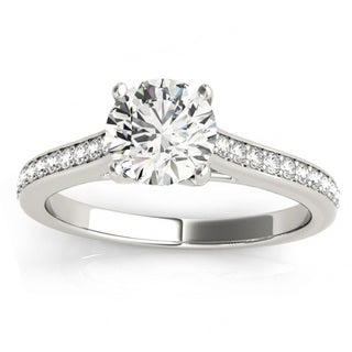 Transcendent Brilliance 14k White Gold Classic 3/4 TDW Diamond Engagement Ring
