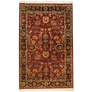 Herat Oriental Indo Hand-knotted Tabriz Wool & Silk Rug (3' x 4'9)