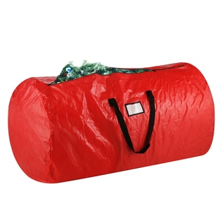 Elf Stor Red Plastic Deluxe Christmas Tree Storage Bag and 30-inch Wreath Bag