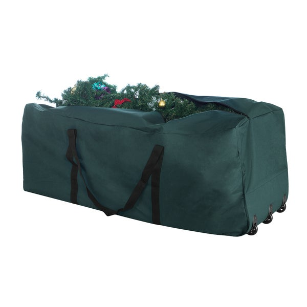 elf stor green canvas rolling christmas tree storage duffel bag - Rolling Christmas Tree Storage Bag