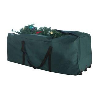 Elf Stor Green Canvas Rolling Christmas Tree Storage Duffel Bag