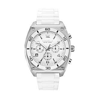 Caravelle New York by Bulova Men's 43A126 Analog Display Japanese Quartz White Watch
