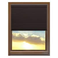 Linen Avenue Custom Cordless 44 to 45-inch Wide Chocolate Blackout Cellular Shade