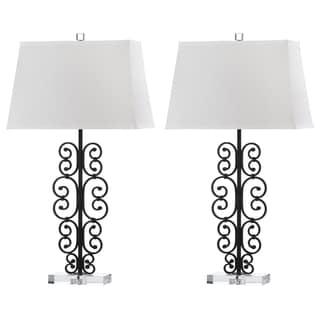 Safavieh Lighting Bennett 32-Inch Scroll Table Lamp (Set of 2)