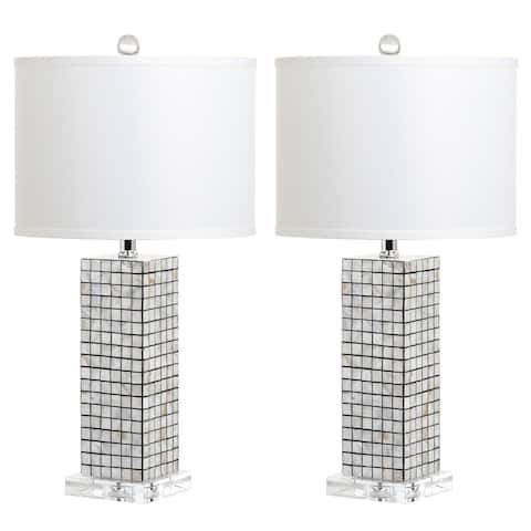 "Safavieh Lighting 26-inch Skagway Table Lamp (Set of 2) - 13""x13""x25.5"""