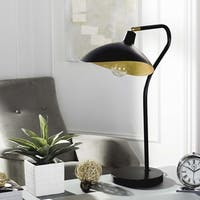 Safavieh Lighting 30-inch Giselle Adjustable Black/ Gold Task Table Lamp
