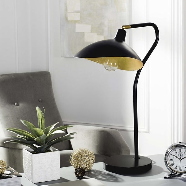 Safavieh Lighting 30-inch Giselle Adjustable Black/ Gold Task Table Lamp