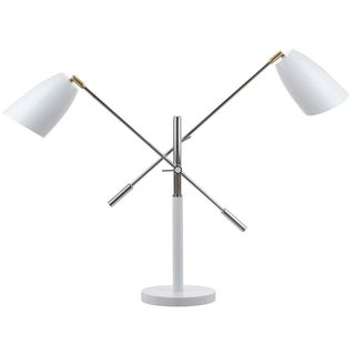 Safavieh Lighting 32-inch Mavis Adjustable White/ Gold Task Table Lamp