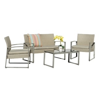 Rome 4 Piece Wicker Conversation Set