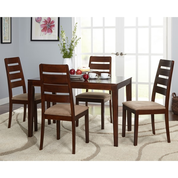Simple Living 5 piece Newbury Dining Set Free Shipping  : Simple Living 5 piece Newbury Dining Set fd928284 1163 4b2c b3c9 ae5f56666433600 from www.overstock.com size 600 x 600 jpeg 68kB