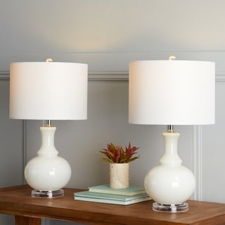 Safavieh Lighting 25.75-inch Franny Off-White Table Lamp (Set of 2)