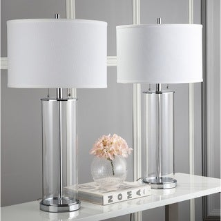 Safavieh Lighting 31 Inch Velma Clear/ Off White Table Lamp (Set Of