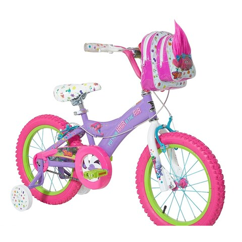 Dynacraft Girls' Trolls Purple Steel 16-inch Bike
