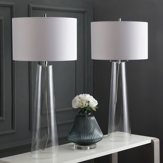Safavieh Lighting 38.125-inch Myrtle Clear/ Off-White Table Lamp (Set of 2)