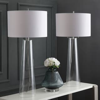 Buy clear table lamps online at overstock our best lighting deals safavieh lighting 38125 inch myrtle clear off white table lamp set of aloadofball Choice Image