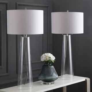 Safavieh Lighting 38-inch Myrtle Clear/ Off-White Table Lamp (Set of 2)