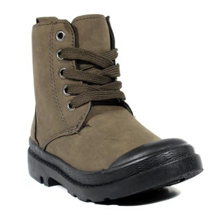 Blue Infant Boys B-Techeri Grey and Brown Synthetic Leather Boots (More options available)