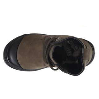 Blue Infant Boys B-Techeri Grey and Brown Synthetic Leather Boots