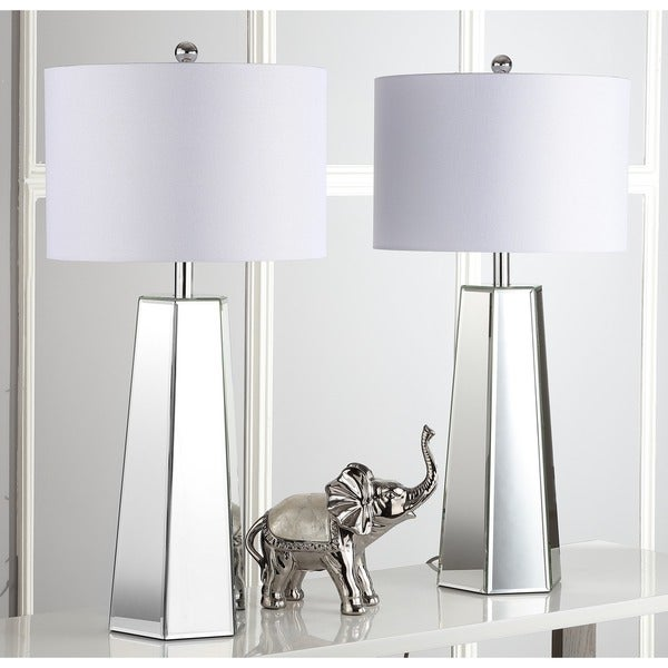 Safavieh Lighting 31.5-inch Janice Clear/ Off-White Table Lamp (Set of 2)