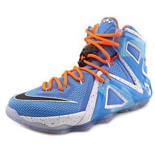 Nike Men's 'Lebron XII Elite' Blue/Orange Synthetic Athletic Shoes