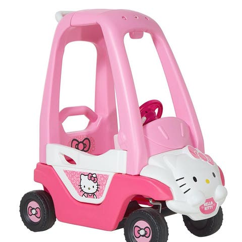 Hello Kitty Push N Play Pink Plastic Toddlers' Foot-powered Car