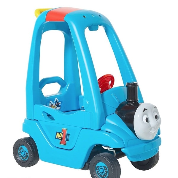 Dynacraft Thomas Push N Play Blue Plastic Foot-powered Car
